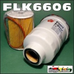 FLK6606 Oil Fuel Filter Kit Nissan D22 Navarra 2002 thru 2005, and GU-II Patrol 2000 thru 2004, with 3.0L Turbo Diesel Engine, all with 36M1.5 sensor port in fuel filter 14cm long