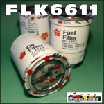 FLK6611 Oil Fuel Filter Kit Nissan GU GU-II GU-III GU-IV Patrol 1999 thru 2007 with TD42-T 4.2L Turbo Diesel Engine all with two different oil filters and 36M1.5 sensor port in fuel filter 14cm long