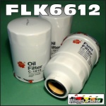 FLK6612 Oil Fuel Filter Kit Nissan GU GU-II GU-III GU-IV Patrol 1999 thru 2007 with TD42-T 4.2L Turbo Diesel Engine all with two similar oil filters and 36M1.5 sensor port in fuel filter 14cm long