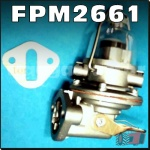 FPM2661 Fuel Lift Pump David Brown 990, 995, 1200, 1210, 1212, 1410, 1412 Selectamatic Tractor and JI Case 1290, 1294, 1390, 1394, 1490, 1494, 1594, 1690 Tractor, all with DB AD4/49 AD4/55 4Cyl, and AD6/55 6Cyl Diesel engine - with glass bowl