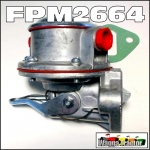 FPM2664 Fuel Lift Pump David Brown 990, 995, 1200, 1210, 1212, 1410, 1412 Selectamatic Tractor and JI Case 1290, 1294, 1390, 1394, 1490, 1494, 1594, 1690 Tractor, all with DB AD4/49 AD4/55 4Cyl, and AD6/55 6Cyl Diesel engine - not with glass bowl
