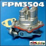 FPM3504 Fuel Lift Pump Ford Fordson Dexta Super-Dexta Tractor with 3Cyl Perkins Engine, is located on side of injector pump