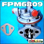 FPM6809 Fuel Lift Pump Massey Ferguson MF 165 Tractor, with Exhaust on LH side, and Massey Ferguson MF 298, 595, 698, 1080, 1085 Tractor - Perkins 4-203D 4-318 Engine, 2 bolt mount, no bowl