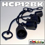 HCP12BK 4x Black Hydraulic Coupler Dust Caps for Remotes - ISO 1/2in type