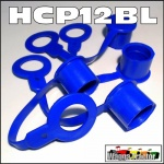 HCP12BL 4x Blue Hydraulic Coupler Dust Caps for Remotes - ISO 1/2in type