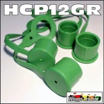 HCP12GR 4x Green Hydraulic Coupler Dust Caps for Remotes - ISO 1/2in type