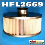 HFL2669 Hydraulic Oil Filter David Brown 770, 780, 880, 885, 990, 995, 996, 1200, 1210 Selectamatic Tractor, and JI Case 1190, 1194, 1290, 1294 Tractor, all with cartridge filter in 10cm deep pressed metal housing bolted to bottom of transmission