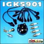 IGK5901 Tune-Up Kit Massey Ferguson MF TEA20, TED20, FE35, 35, 135 Tractor with Standard Vanguard 80mm, 85mm, 87mm 4-Cyl Petrol or Kero Engine, all with original distributor and OE style leads