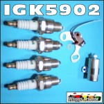 IGK5902 Tune-Up Kit Massey Ferguson TEA20, 35, 135 Tractor - contains Plugs Points & Condenser for Original Distributor