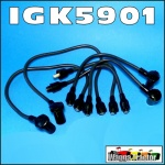 ILD5901 Spark Plug Ignition Leads Massey Ferguson MF TEA20, FE35, 35, 135 Tractpr with Standard Vanguard 80mm., 85mm, 87mm Petrol Engine - with OE style lead ends