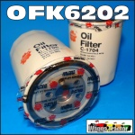 OFK6202 Oil Filter Kit Mazda Ford T3500, T4000, T4600 T Series Trader Truck woth Mazda SL, SL-T, TF, TM Engine all with spin-on bypass filter