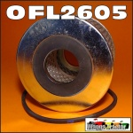 OFL2605 Oil Filter Cartridge David Brown DB 770, 780, 850, 880, 885, 950, 990, 995 Tractor, with AD3/49, AD3/55, AD4/47, AD4/49, AD4/55 Engine, all with 8cm long horizontal mount element