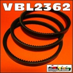 VBL2362 Hydraulic Pump Drive Belt Set Chamberlain 6G, 9G Tractor, and Mk2 Industrial Loader all with 3V pulley drive