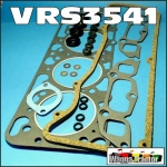 VRS3541 VRS Head Gasket Set Kit Ford 4D240 4D254 4D255 2701E 2706E 2711E 2712E 4-Cyl Diesel Engine with 7 hole valve cover, & inlet ports below manifold bolts