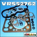 VRS52762 VRS Head Gasket Set Kubota L175 L185 L1500 L1501 Tractor with Z750 Z751 2-Cyl Diesel Engine