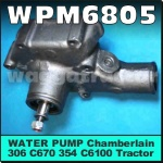WPM6805 Water Pump Chamberlain 306 354 C670 C6100 Tractor, Dodge AT4 D5N Truck with Perkins 6-354 Engine, International IH AB C-Line D-Line Butterbox AACO ACCO-A ACCO-B Truck with Perkins 6-354 Engine, Leyland Boxer BX8 BX9 Truck with Perkins 6-354 Engine