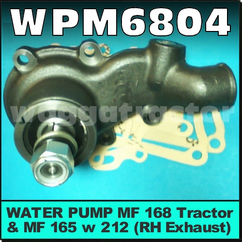 Wagga Tractor parts - WPM6804 Water Pump Chamberlain 212 236 Tractor